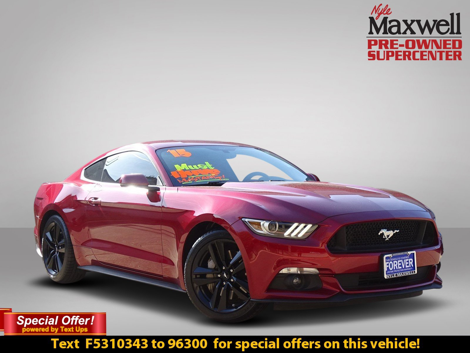Pre Owned 2015 Ford Mustang EcoBoost 2dr Car in Austin F